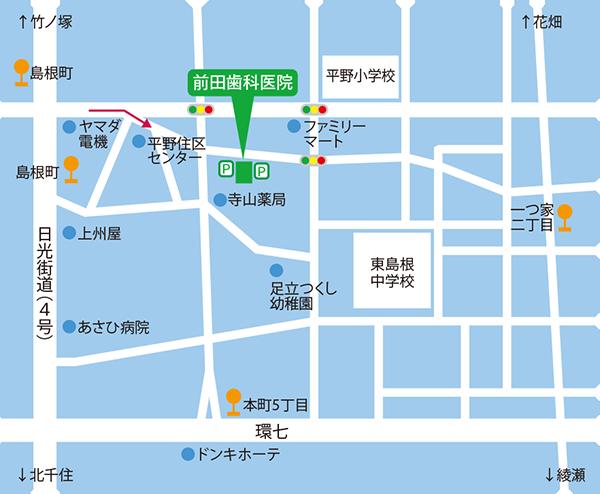D.land前田歯科医院 地図